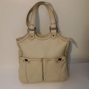 Handbags - 💖Cream Leather Shoulder/Travel Bag